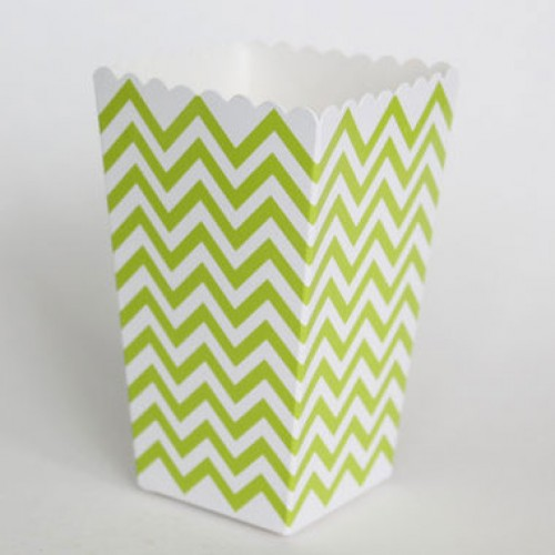 abcJoy chevron πράσινα popcorn boxes (12-pack)