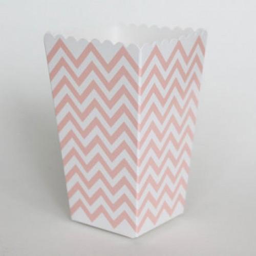 CabcJoy chevron ροζ popcorn boxes (12-pack)