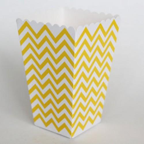 abcJoy chevron κίτρινα popcorn boxes (12-pack)
