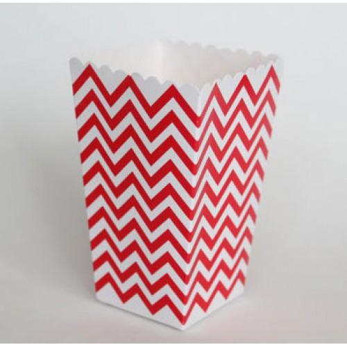 abcJoy chevron κόκκινα popcorn boxes (12-pack)