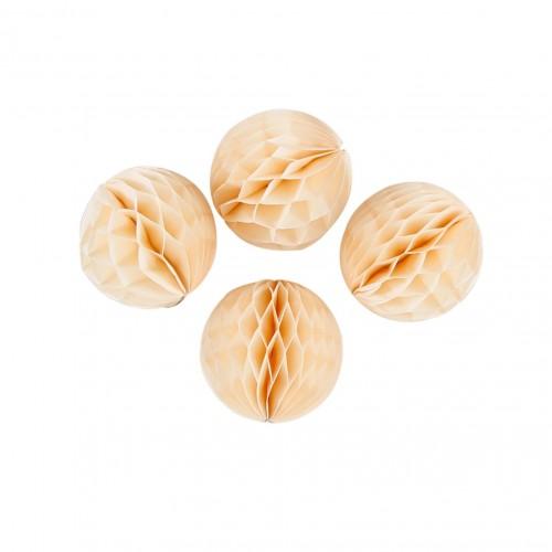 abcJoy Ιβουάρ- Ivory Honeycomb ball - 8''