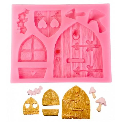 Καλούπι Σιλικόνης Παραμυθένια Πόρτα & Παράθυρα Doors and Windows Silicone Mold N.Y. Cake