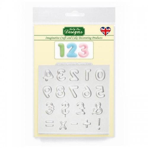 Καλούπι Σιλικόνης της Katy Sue - Καμπυλωτοί Αριθμοί (Domed Numbers) 65c21002949