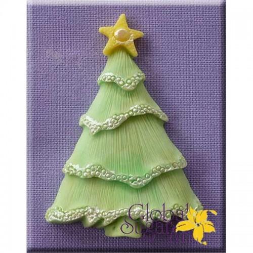 Καλούπι Σιλικόνης Χριστουγεννιάτικο Δέντρο Με Αστέρι