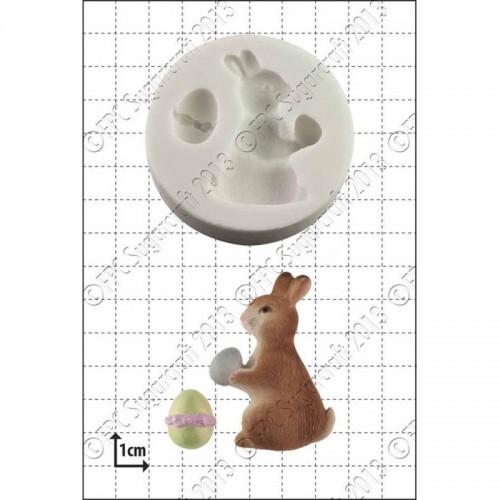 Καλούπι Σιλικόνης Πασχαλινό Λαγουδάκι με Αυγό FPC