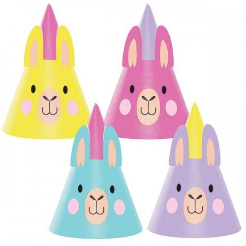 Χάρτινα Καπελάκια Λάμα - Llama Party