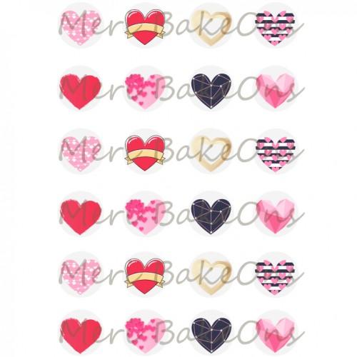 Βρώσιμο Φύλλο Για Mαρεγκάκια Καρδιές Meri BakeOns
