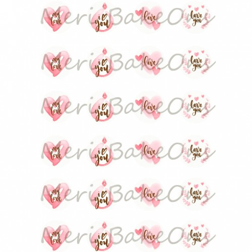 Βρώσιμο Φύλλο Για Mαρεγκάκια Ιστορία Αγάπης 3 Meri BakeOns