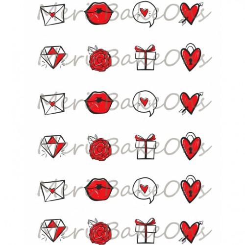 Βρώσιμο Φύλλο Για Mαρεγκάκια Ιστορία Αγάπης 2 Meri BakeOns