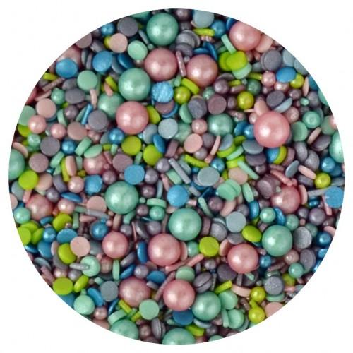 Ανάμεικτο Παστέλ Κας Κας Με Πέρλες - Party Sprinkles By Sprinkletti 100g