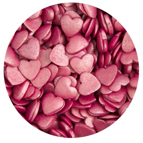 Κας Κας Ροζ Περλέ Καρδιές - Glimmer Pink Hearts 65g