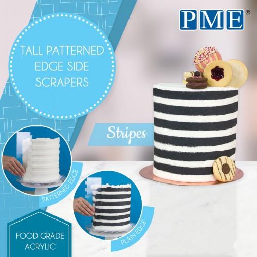 Ξύστρα Με Λωρίδες Για Πλαϊνά Τούρτας PME (Stripes)
