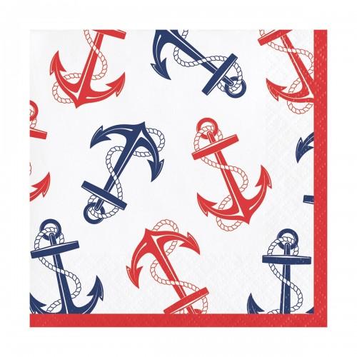 Χαρτοπετσέτες Γλυκού Ναυτικό Θέμα Άγκυρα Nautical Anchor 16pack