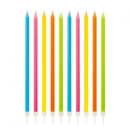 Πολύχρωμα Κεριά Τούρτας Rainbow