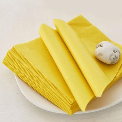 Μονόχρωμες Κίτρινες Χαρτοπετσέτες (20-pack)