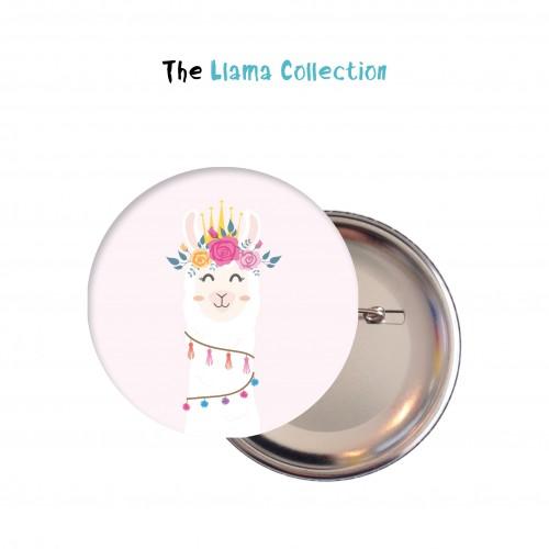 Κονκάρδες Λάμα - No Drama Llama Party Pins Για Δώρα Και Party Favors