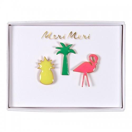 Καρφίτσες Θέμα Τροπικό - Pins Tropical Meri Meri