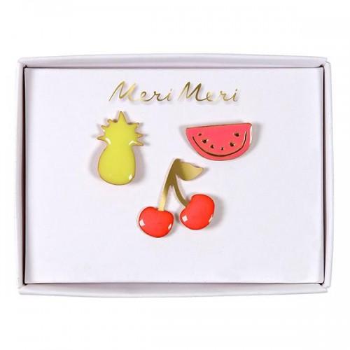 Καρφίτσες Καλοκαιρινά Φρούτα - Pins Summer Fruits Meri Meri