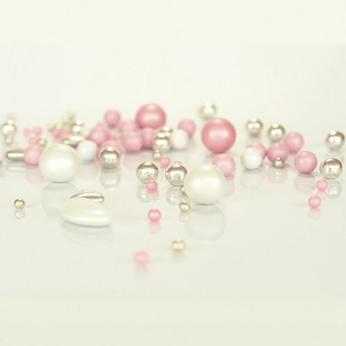Πριγκίπισσα Pearl Mix Ροζ Ασημί Βρώσιμες Πέρλες Σοκολάτας Princess Pearlicious 150gr