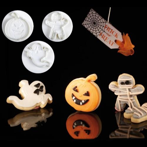 Σετ Κουπ Πατ Με 'Εμβολο Halloween Φάντασμα-Μούμια-Κολοκύθα