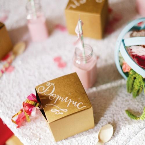 Kraft Cube Party Box-Κραφτ Κουτί για Cupcakes