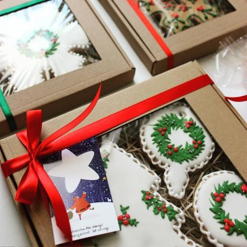 Κραφτ Κουτί Με Παράθυρο Για Μπισκότα Και Γλυκά 24x18cm