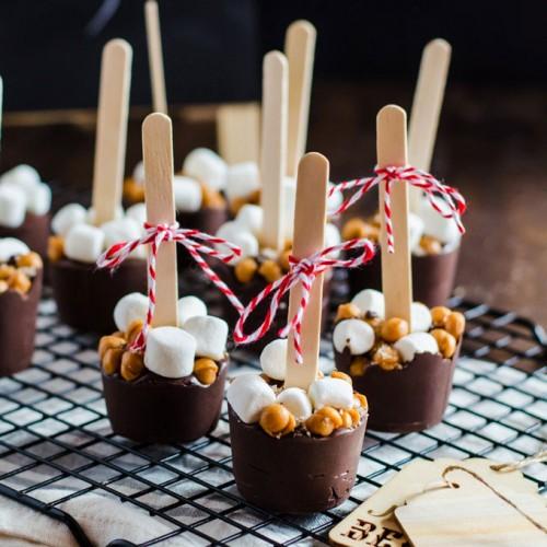 Ξύλινα Μικρά Κουταλάκια Γλυκών Μπουφέ 11cm