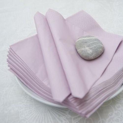 Μονόχρωμες Λιλά Χαρτοπετσέτες (20-pack)