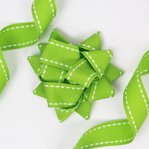 Κορδέλα πράσινο ανοιχτό, γκρο με γαζί (15mm)