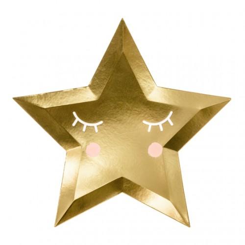 Χάρτινα Πιάτα Αστέρι Little Star PartyDeco