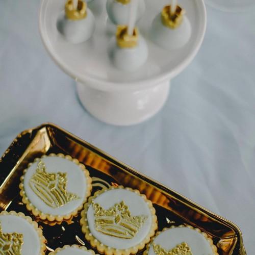 Royal Crowns Cookie Stencils Set - Στένσιλ Για Μπισκότα Βασιλικά Στέμματα(2pcs) Designer Stencils