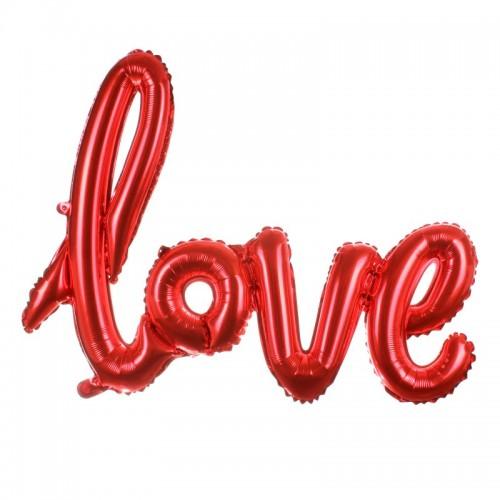 Μεταλλικό Κόκκινο Μπαλόνι Love