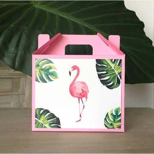 Ροζ Lunch Box-Χάρτινη συσκευασία φαγητού