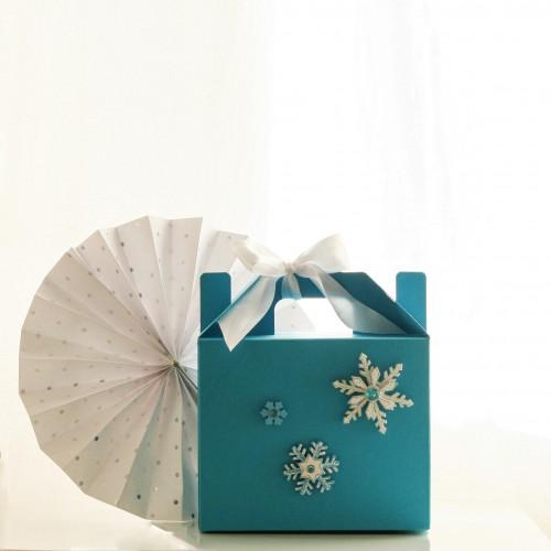 Γαλάζιο Lunch Box-Χάρτινη συσκευασία φαγητού