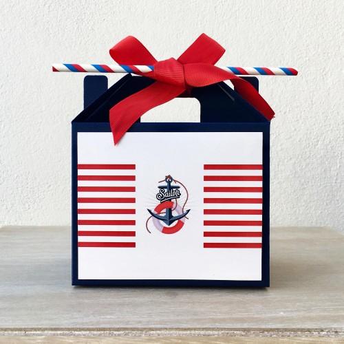 Μπλε Ναυτικό Lunch Box-Χάρτινη συσκευασία φαγητού