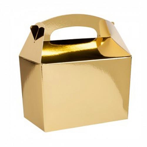 Χρυσό Μεταλλικό Lunch Box-Χάρτινη συσκευασία φαγητού