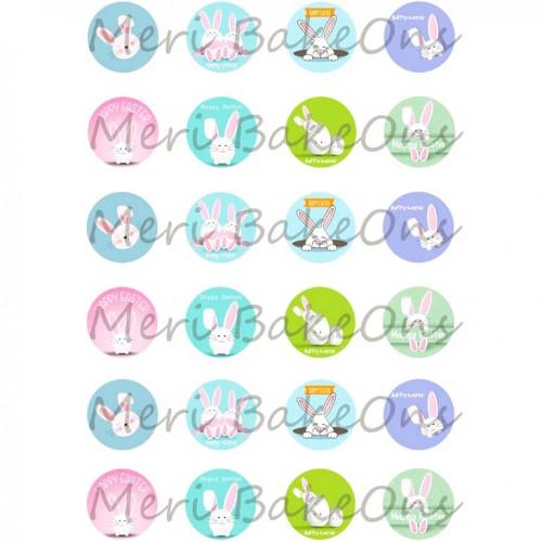 Βρώσιμο Φύλλο Για Mαρεγκάκια Λαγουδάκια Bunny Mix Meri BakeOns