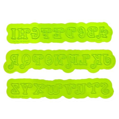 Στριφογυριστή Αλφάβητος Καλούπι της Marvelous Molds-Swirly Uppercase Flexabet™