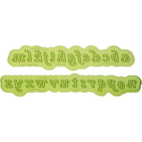 Πεζή Καλλιγραφική Αλφάβητος Καλούπι της Marvelous Molds-Calligraphy Lowercase Flexabet™