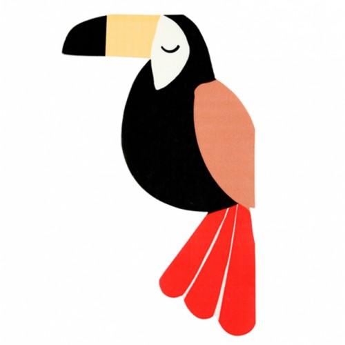 Μεγάλο κορίτσι λεία βόλτες πουλί