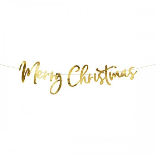 Χριστουγεννιάτικη Χρυσή Γιρλάντα Merry Christmas PartyDeco