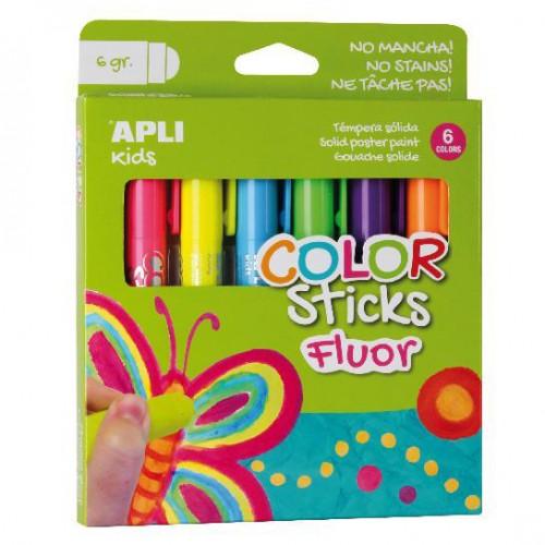 Χρώματα Ζωγραφικής Φλούο-Fluor Sticks (6τμχ)