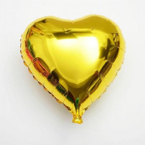 Σετ Μεταλλικά Μπαλόνια Χρυσές Καρδιές 4pcs