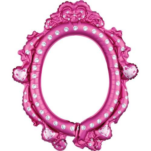 Μεταλλικό Μπαλόνι Κάδρο Για Φωτογραφίες-Selfie Frame Disney Princess Anagram