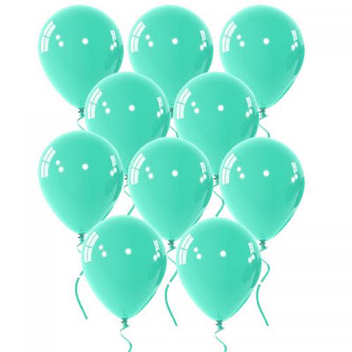 Μέντα Μονόχρωμα Μπαλόνια 10pcs