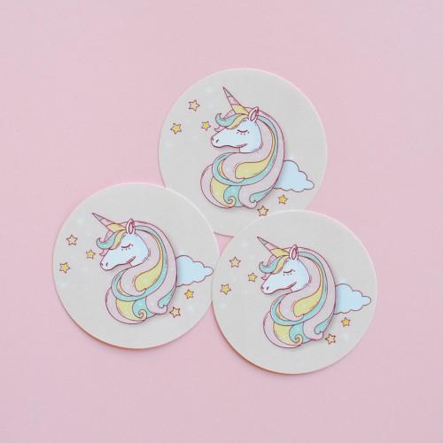 """Μαγικός Μονόκερος Αυτοκόλλητα Για Παιδικά Πάρτυ-The Unicorn Collection By """"βαν ντιζάιν"""""""