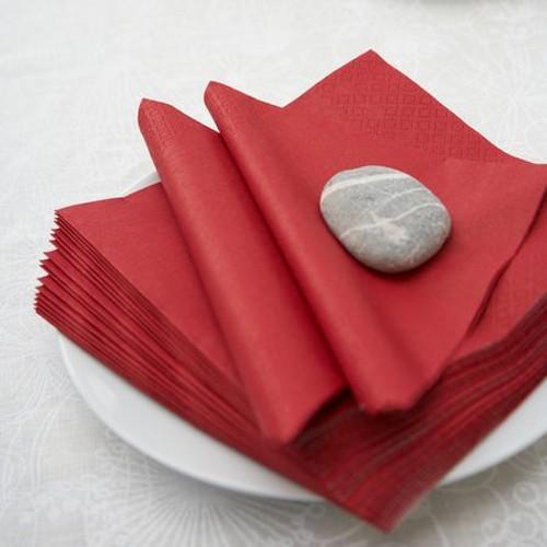 Μονόχρωμες Κόκκινες Χαρτοπετσέτες (20-pack)