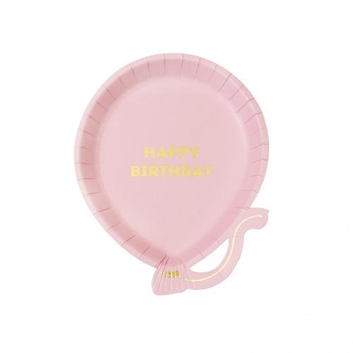 Πιάτα Γλυκού Μπαλόνια Ροζ Με Χρυσό We ♥ Birthdays Pink Balloon Talking Tables