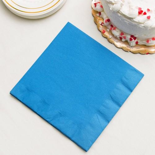 Μονόχρωμες Μπλε Της Θάλασσας Χαρτοπετσέτες 40-pack