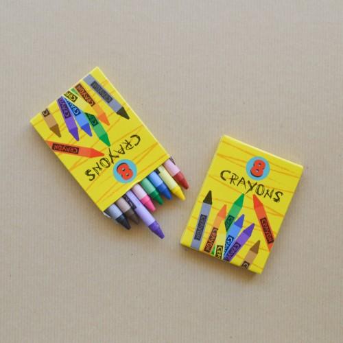 Κηρομπογιές Ζωγραφικής-8 Crayons Σε Φωτεινά Χρώματα